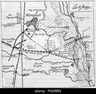 5 1929 Harta Bat De La Marasesti Aug 1917 Kiritescu Ii 499