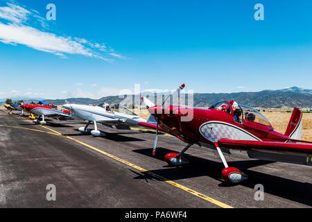 Van's Aircraft RV-8; Rocky Mountain Renegades Formation flying team; Salida Fly-in & Air Show; Salida; Colorado; USA - Stock Photo