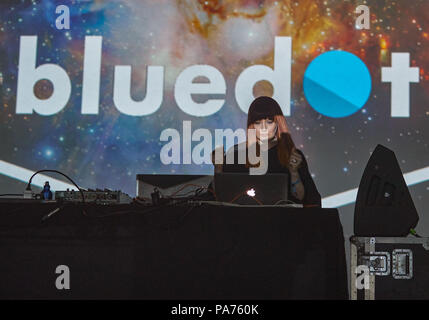 July 20, 2018 - ANA MATRONIC Of Scissor Sisters performing DJ set at Bluedot Festival, Jodrell Bank, UK Credit: Andy Von Pip/ZUMA Wire/Alamy Live News - Stock Photo