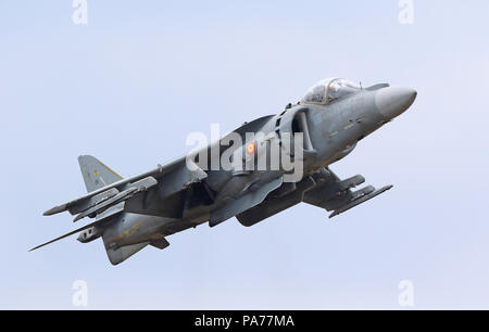 Spanish Navy McDonnell Douglas AV-8B Harrier, Farnborough International Airshow, Farnborough Airport, Hampshire, UK, 20 July 2018, Photo by Richard Goldschmidt Credit: Rich Gold/Alamy Live News - Stock Photo