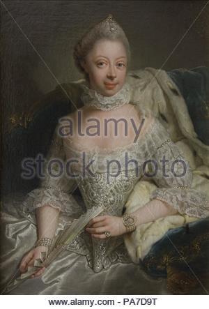 Charlotte of Mecklenburg - Strelitz portrait  (1744- 1818). Charlotte of Mecklenburg - Strelitz was married to George III. She