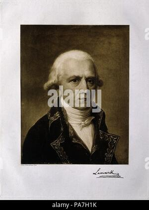 Jean-Baptiste Pierre Antoine de Monet, Chevalier de Lamarck (1744-1829). Museum: PRIVATE COLLECTION. - Stock Photo