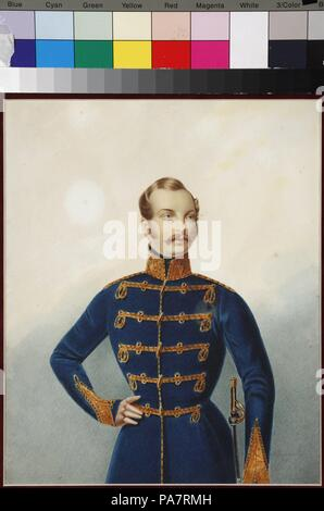 Portrait of the Crown prince Alexander Nikolayevich (1818-1881). Museum: Museum Palace Theatre Ostankino, Moscow. - Stock Photo