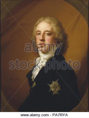 Portrait of Gustav IV Adolf of Sweden (1778-1837). Museum: Nationalmuseum Stockholm. - Stock Photo
