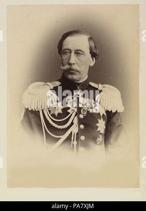 Portrait of Prince Vladimir Ivanovich Baryatinsky (1817-1875). Museum: Russian State Film and Photo Archive, Krasnogorsk. - Stock Photo