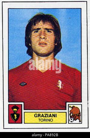 95 Francesco Graziani 1975 - Stock Photo