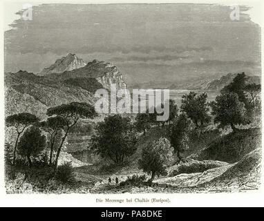 66 Die Meerenge bei Chalkis (Euripos) - Schweiger Lerchenfeld Amand (freiherr Von) - 1887 - Stock Photo