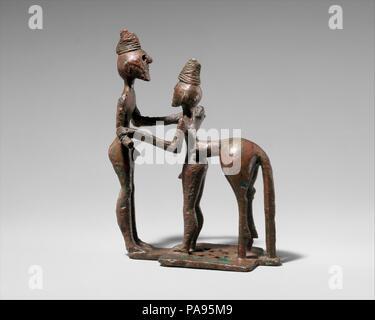 Bronze man and centaur, Geometric, mid-8th century B C