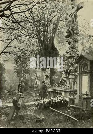 224 S 362 Abb 365 Partie aus dem Währinger Friedhofe - Stock Photo