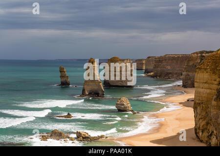 Twelve Apostles on the Great Ocean Road, Victoria, Australia - Stock Photo
