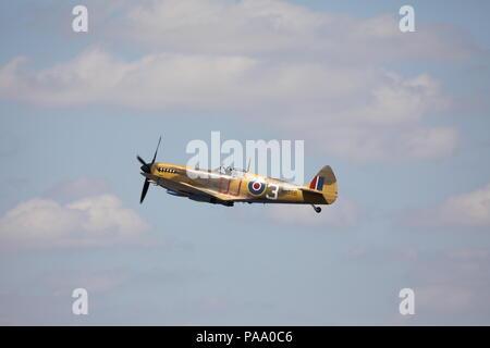 Hawker Hurricane IIc Fairford RIAT Sunday 15th July 2018 Military Aeroplane Royal International Air Tattoo RAF100 MK356 - Stock Photo