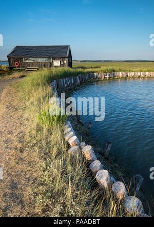 newtown creek boathouse, isle of wight, England uk. - Stock Photo