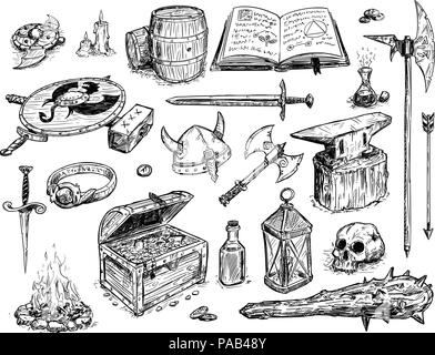 Vector Drawing Illustration of Fantasy Set Prop - Stock Photo