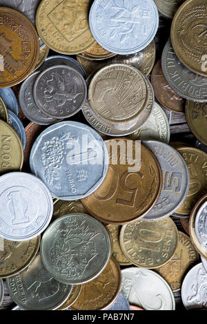 coins of different countries and times - Stock Photo
