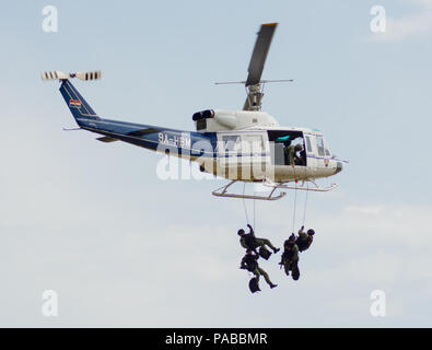 Croatian police helicopter AB 212 - Stock Photo