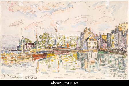 Le Croisic. Artist: Paul Signac (French, Paris 1863-1935 Paris). Dimensions: 10 11/16 x 17 1/16 in.  (27.1 x 43.3 cm). Date: 1928. Museum: Metropolitan Museum of Art, New York, USA. - Stock Photo