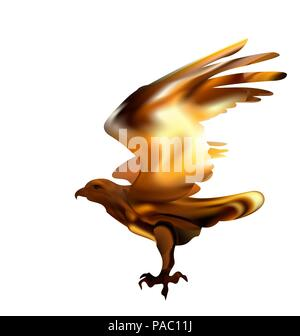 Fire bird eagle in flight as a symbol of power and freedom. - Stock Photo