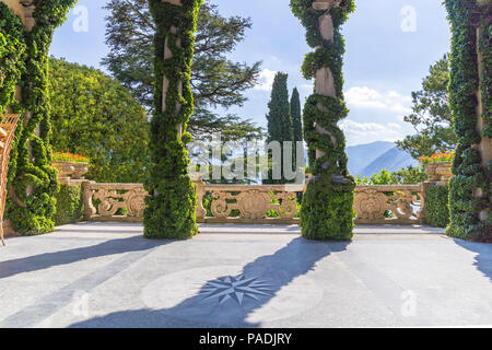 Italy, Lombardy, Como district. Como Lake, Villa del Balbianello - Stock Photo