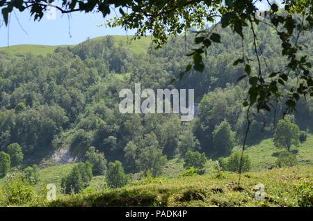 Mountains of the Greater Caucasus in Ilisu natural reserve, North-western Azerbaijan - Stock Photo
