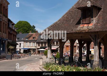 Lyons-la-Forêt & the medieval market place, Eure, Seine Maritime, Haute Normandie, Normandy, north-western France. - Stock Photo