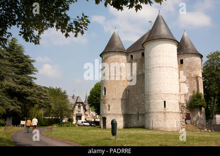 Le Chateau des Tourelles on the banks of the River Seine in Vernon, Eure, central, Normandy, France - Stock Photo