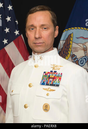 (May 7, 2018) An undated official portrait of retired Master Chief Special Warfare Operator (SEAL) Britt K. Slabinski. President Donald J. Trump will award the Medal of Honor to Master Chief Slabinski during a White House ceremony on May 24, 2018 for his heroic actions during the Battle of Takur Ghar in March 2002 while serving in Afghanistan.  Master Chief Slabinski is being recognized for his actions while leading a team under heavy effective enemy fire in an attempt to rescue SEAL teammate Petty Officer 1st Class Neil Roberts during Operation Anaconda in 2002. The Medal of Honor is an upgra - Stock Photo