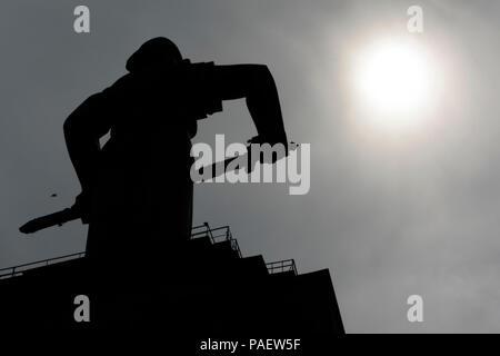 Statue Mother Armenia at Victory Park, Yerevan, Armenia - Stock Photo