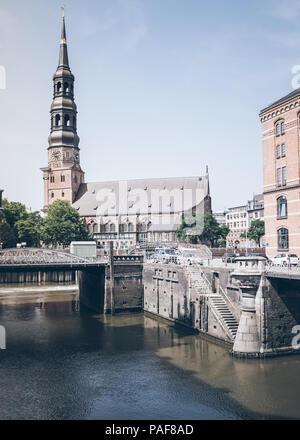 Sankt Katharinen lutheran church in Hamburg, Germany - Stock Photo