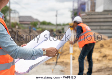 engineer working on building site - Stock Photo