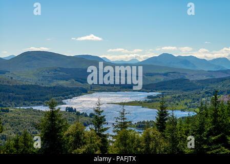 landscape of loch eil at highland in scotland, uk - Stock Photo