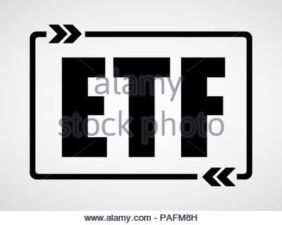 ETF - Exchange-traded fund concept - Stock Photo
