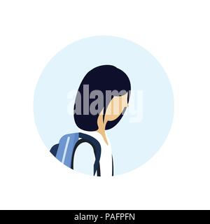 Mascot icon illustration of head of an Asian small clawed