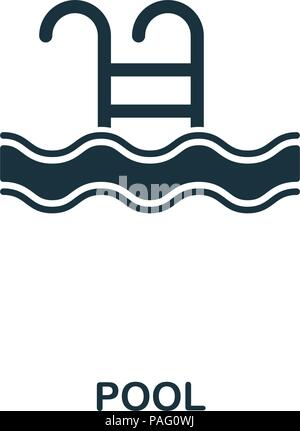 Swimming Pool Colorful Line Icon Simple Stock Vector (Royalty Free)  1173453358