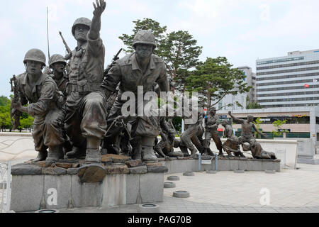 War Memorial and Museum, Seoul, South Korea, Asia. - Stock Photo