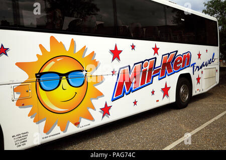 Mil-Ken, Travel coach, day trips, Littleport, Cambridgeshire, UK, holiday, coaches, travel - Stock Photo