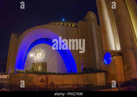Resurrection of Christ Orthodox Cathedral in Tirana. Tirana is capital of Albania, Southeastern Europe - Stock Photo