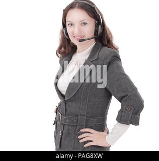 closeup.portrait of an employee call center.i - Stock Photo
