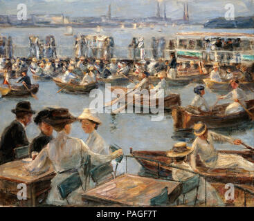 Liebermann  Max - on the Alster in Hamburg - Stock Photo