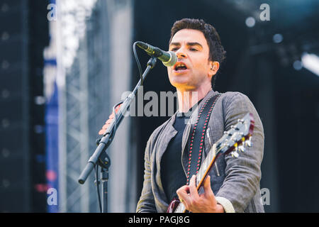 July 20, 2018 - Lead singer of the Stereophonics, Kelly Jones, performing at Tramlines Festival 2018 in Sheffield Credit: Myles Wright/ZUMA Wire/Alamy Live News - Stock Photo