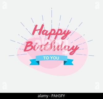 happy birthday to you greeting card vector illustration - Stock Photo