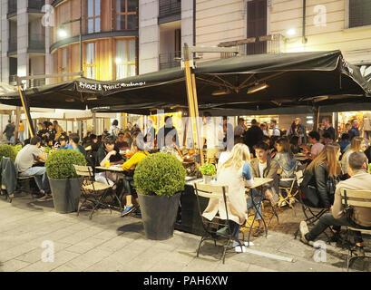 Europe,Italy,Lombardy,Milano,Corso Garibaldi,movida,cafe,aperitivo - Stock Photo
