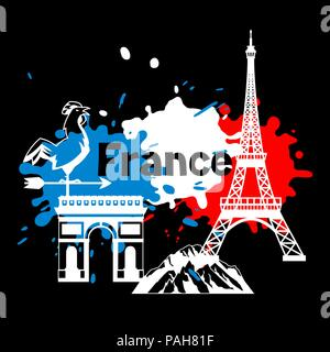 France background design. - Stock Photo
