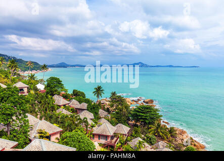 Beautiful views of the coast of Koh Samui in Thailand. - Stock Photo