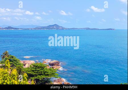 Beautiful views of the coast of Koh Samui in Thailand. - Stock Photo