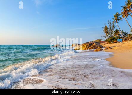 Sunrise on Lamai Beach on Koh Samui in Thailand. - Stock Photo