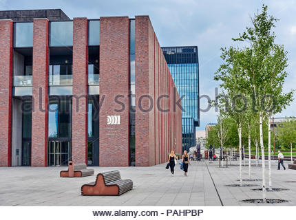 KATOWICE, POLAND- JULY 13, 2018: New seat of Polish National Radio Symphony Orchestra on 13 July 2018 in Katowice, The new building is located in the  - Stock Photo