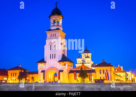 Alba Iulia, orthodox cathedral of Coronation in the city of Alba, Transylvania, Romania. - Stock Photo