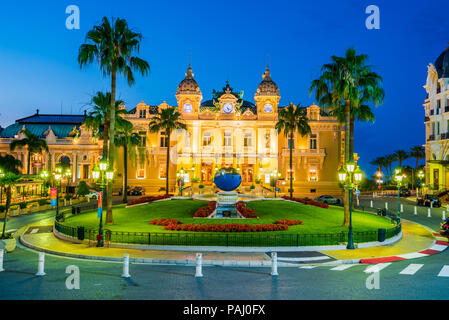 Monte Carlo, Monaco - July 2018 - The Monte Carlo Casino, gambling and entertainment complex in Monte Carlo, Monaco, Cote de Azur, Europe. - Stock Photo