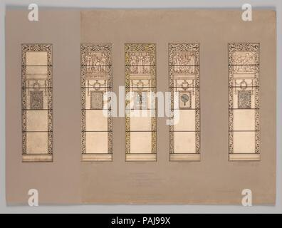 Design for a window. Artist: Louis Comfort Tiffany (American, New York 1848-1933 New York). Culture: American. Maker: Possibly Tiffany Glass and Decorating Company (American, 1892-1902); Possibly Tiffany Studios (1902-32); Possibly Tiffany Glass Company (1885-92). Date: late 19th-early 20th century. Museum: Metropolitan Museum of Art, New York, USA. - Stock Photo