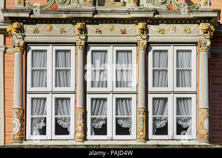 city view of Hamelin, a town in Lower Saxony - Stock Photo